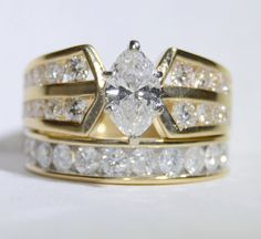 Vintage Lady's Marquise Diamond Engagement and by LadyLibertyGold