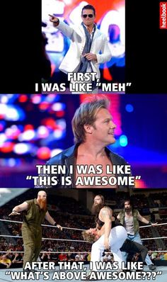 WWE..that's how I felt watching that Monday night raw