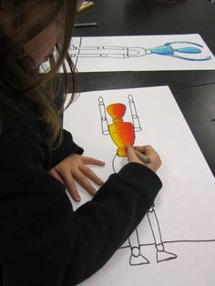 Georgetown Elementary Art Blog » Blog Archive » More Figure Drawing -use models for figures 4-5 th
