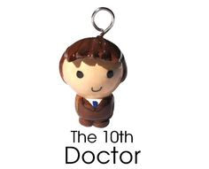 This is so cute! Doctor Who: the 10th Doctor cell phone charm. $12.00, via Etsy.