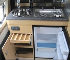 top UK motorhome manufacturers and converters are already committed to compressor fridges in their motorhomes and campervans, including Vantage Motorho(. Build A Camper Van, Mini Camper, Truck Camper, Van Conversion Interior, Camper Van Conversion Diy, Kombi Trailer, Camper Trailers, Motorhome Interior, Camper Interior
