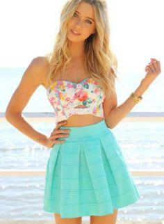 Zig-Zag Textured Mint Mini Skater Skirt with High Waist, Skirt, skater skirt high waisted, Chic