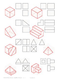 Isometric Drawing Exercises, Orthographic Drawing, Architecture Drawing Sketchbooks, Geometric Drawing, Typography Poster Design, Perspective Drawing, Technical Drawing, Visual Communication, Designs To Draw