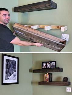 13 Stylish DIY Shelves Ideas You Can Build Yourself | Postris