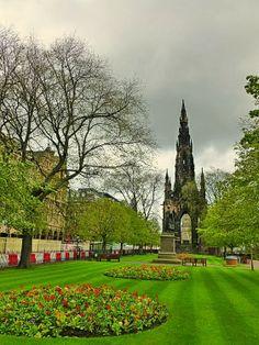 Princes Street Gardens, Edinburgh - we had our honeymoon in Edinburgh.