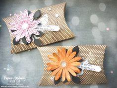 PapierverSUchung Design Team Blog Hop #10_Sommer oder Produktpaket Tropenflair | AKS – Stempelwerk Gänseblümchenstanze, Gänseblümchengruß, Wie schön dass Du da bist, Geschenkverpackung, Mitbringsel, Kissenschachtel, Box, Goodie, Incolor 2018-2010, grapefruit, kussrot