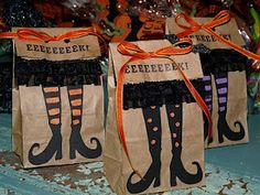 Raspberry Ruffles: Halloween Treat Bags & Tags