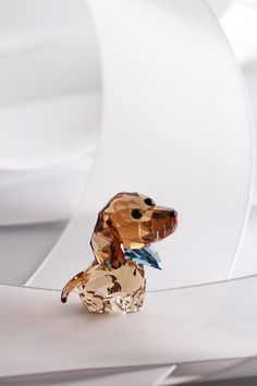 Swarovski Puppy Milo The Dachshund Swarovski Ornaments, Swarovski Crystal Figurines, Swarovski Crystals, Dachshund Art, Swarovski Bracelet, Glass Figurines, Glass Animals, Crystal Collection, Body Jewelry