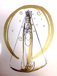 Nossa Senhora Aparecida Estilizada Feita por Cláudio Pastro