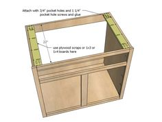 Kitchen Cabinet Sink Base 36 Full Overlay Face Frame | Free and Easy DIY Project and Furniture Plans