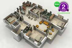 do a 3D floor plan of your Architecture project by jujozame
