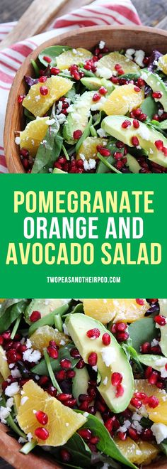Pomegranate Orange and Avocado Salad is the perfect salad for the holidays! Everyone loves this healthy, fresh, and festive salad! #Christmas #holidays #salad #glutenfree #pomegranate #orange #avocado