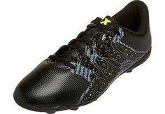 329f7e2b49903 adidas Kids X 15.4 FxG Soccer Cleats - Black and Yellow | SoccerMaster.com  Chuteiras
