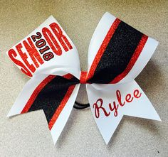 Customizable Senior or any grade with year Cheer Bow. Cheerleading hair bow. Glitter cheer accessories. Glitter sparkle cheer bow, custom bows. #ad
