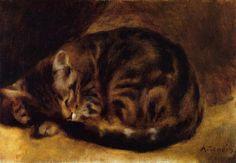 Sleeeping Cat, 1862    Pierre-Auguste Renoir