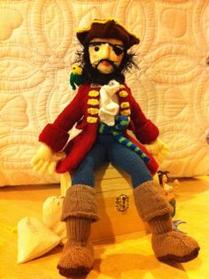 Crystal's amazing pirate #knit #knitting #pirate #knithacker