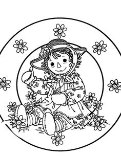 rag dolls printable coloring pages - photo#27