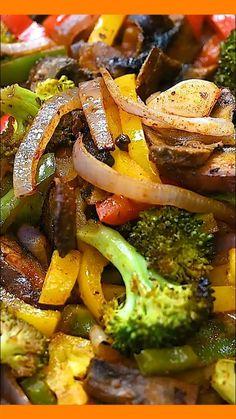 Keto Veggie Recipes, Healthy Salad Recipes, Vegetable Recipes, Mexican Food Recipes, Beef Recipes, Vegetarian Recipes, Dinner Recipes, Cooking Recipes, Fajita Vegetables