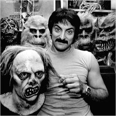 Tom Savini.  One of the greatest special effects- make-up artists ever.  He was a Viernam vet.  He said he saw much death, he had to separate himself from it. Finally he found working in the field of horror make up somehow helped him work thru the trauma of it all. It gave him someplace to get out the awful images. I thought that was a profound story. And he is one of the best in his field.
