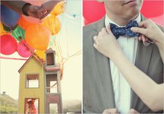 Up inspired engagement photoshoot. This is too darn cute. Not my thing, but love the look