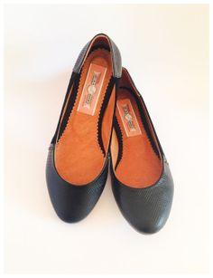 Mina Shoes Balerina Tita Black 100 Piel por MinaShoes en Etsy, $75.00
