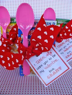 Valentines Day Cereal Treat  (Primary Class) OMG this is so cute! Love it