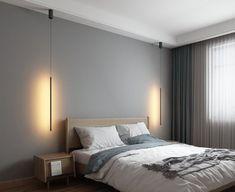 Living Room Lighting, Living Room Bedroom, Home Lighting, Bedroom Decor, Master Bedroom, Modern Bedroom Lighting, Nordic Bedroom, Kitchen Lighting, Bedroom Ideas