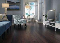 Reddish-brown click together bamboo flooring