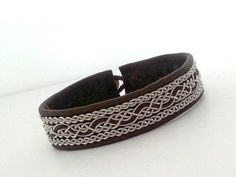Lapland Sami Bracelet Reindeer leather Custom made от liten82