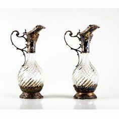 """André Cencin , antiguidades Leilão dia 10 de junho às 20h WWW.IARREMATE.COM  """"Par de jarras em cristal com prata francesa. Séc XIX."""" - med. 26 cm de altura  #antiguidades #antiquário #leilao #andrecencin #ipanema #iarremate #luxo #leblon #leilão #auctions #arquitetura #avenidaeuropa #sp #decor #escultura #oscarfreire #josemarialisboa #galeriadearte #ipanema #i#fineart"""