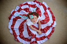 I have realised that sewing, much like exercise, is best done while our enthusiasm is high. When Wee Bear and I spotted a photo of the Peppermint Swirl Dress by candy Castle Patterns, we were defin… Best Summer Dresses, Holiday Dresses, Christmas Dresses For Kids, Dress Patterns, Sewing Patterns, Candy Castle, Sewing For Kids, Peppermint, Little Girls