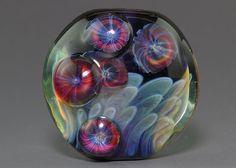 Handmade Lampwork focal silver glass dichro by ikuyoglassart, $40.00