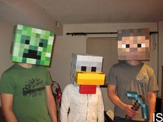 How to Make a Minecraft Head | How To Make A Minecraft Steve Head Costume