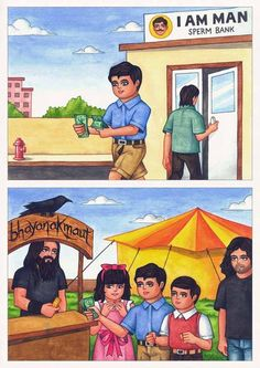Priyesh Trivedi a visual artist from Mumbai, have been making waves all around the country with his immensely popular Adarsh Balak series of sketches. Taking up the traditional 80's and 90's 'Ideal Boy' illustrations and giving it a contemporary twist- striking a chord with a generation of young adults like himself who have grown up with the neatly turned out schoolboy decorating their books, brushing his teeth regularly and taking meals on time now drops acid and vandalizes properties.