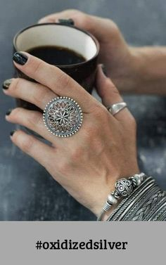Hand Jewelry, Jewelry Rings, Jewelery, Jewelry Stores Near Me, Jewelry Shop, Unique Silver Rings, Oxidised Jewellery, Gold Jewellery, Diamond Jewelry