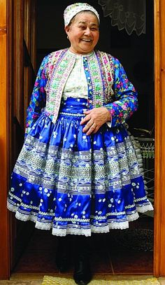 You can meet some women dressed in traditional folk costumes, but only in some occasions. This lady has a good mood and smile in her face. Traditional Fashion, Traditional Dresses, Folk Costume, Costumes, Folk Embroidery, People Of The World, World Cultures, Beautiful People, Dress Up