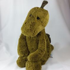 Jellycat Bashful Dragon Green Large Plush 15 IN Stuffed Animal Toy Doll  #JellyCat
