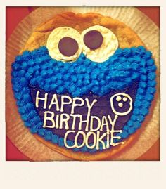 Cookie Monster Giant Cookie