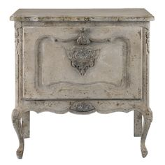 Fausta Aged Ivory Accent Chest – Hudson Home Decor