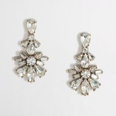Factory crystal flower pendant earrings : Gifts for Mom   J.Crew Factory