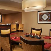 "Columbia Marriott Downtown has been up-fitted with a modern style and color palette, remodeled guest and conference rooms, as well as a newly designed lobby and dual ""day and night"" lounge. (Columbia, SC via Columbia Marriott Downtown website)"