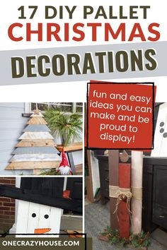 Have a pallet or two that you're wondering what to do with? Check out these DIY Christmas pallet ideas that you can easily make! They'll come out so wonderfully that you'll be thrilled to display them. #palletprojects #christmascrafts #christmasdecor #diychristmasdecor Merry Christmas Card, Christmas Signs, Holiday Fun, Christmas Crafts, Pallet Crafts, Pallet Ideas, Pallet Projects, Diy Crafts, Pallet Christmas