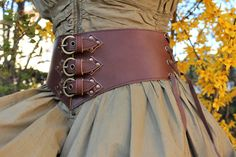 Medieval Belt, Medieval Clothing, Wide Leather Belt, Brown Leather, Leather Corset, Bullet Jewelry, Geek Jewelry, Gothic Jewelry, Jewelry Necklaces