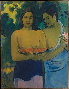Paul Gauguin (French, Paris 1848–1903 Atuona, Hiva Oa, Marquesas Islands) | Two Tahitian Women, 1899