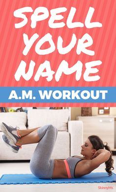 Use this Spell Your Name workout to get up an go!Mornings arent always easy but … Use this Spell Your Name workout to get up an go!Mornings arent always easy but this fun little workout can help you feel energized. All you have to do is spell your name. Weight Loss Calculator, Weight Loss Diet Plan, Weight Loss Journey, Weight Loss Tips, Spell Your Name Workout, All Body Workout, Fitness Models, Burn Fat Build Muscle, Fat Burning Cardio
