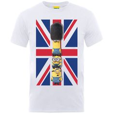 Minions Union Jack Men's T-Shirt – S – White