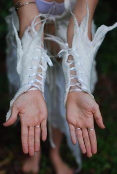 SALE was 70USD  Felt Fairy Snow Queen Icicle Arm by frixiegirl
