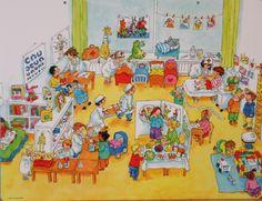 Praatplaat Bas - Ziek & gezond (getekend door Dagmar Stam)