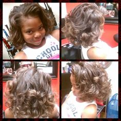 Kids natural hair blowout! www.styleseat.com/shamonadixon