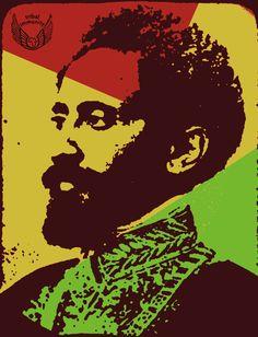 Emperor Haile Selassie I Rastafari Rasta Tattoo, Rastafari Art, Rastafarian Culture, Rasta Art, Pan Africanism, Haile Selassie, Smile Images, Lion Of Judah, Canvas Prints